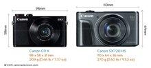 Máy ảnh Canon Powershot G9 X vs Canon Powershot SX720 HS: Cuộc ganh đua nội bộ