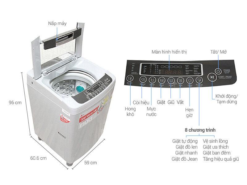 Máy giặt 5 triệu Toshiba hay LG loại nào tốt ?