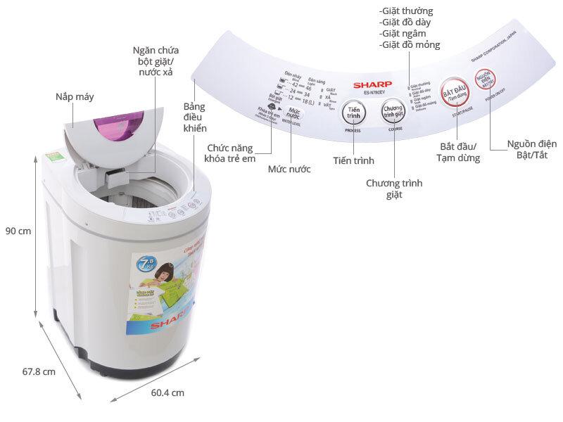Máy giặt Sharp có tốt không ? Có nên mua máy giặt lồng đứng Sharp?