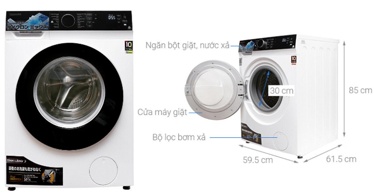 Máy giặt Toshiba cửa ngang loại nào tốt ? Giá bao nhiêu ?