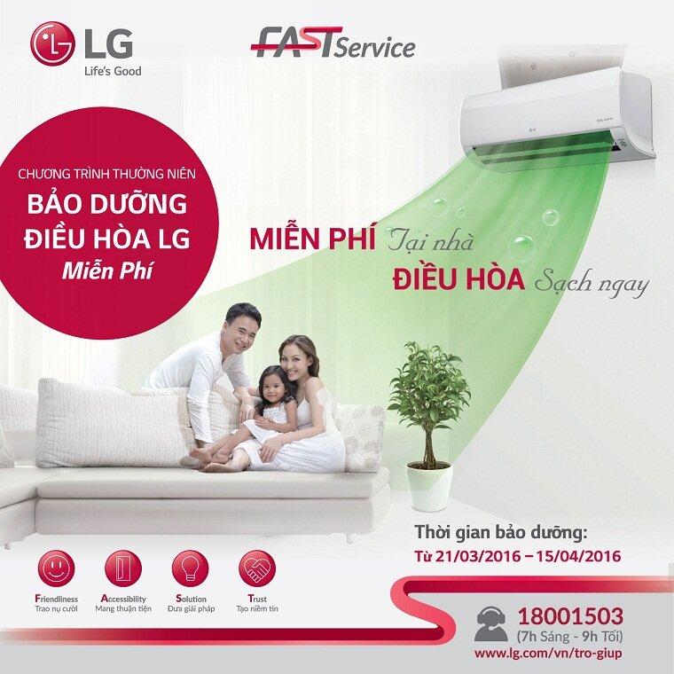 Máy lạnh điều hòa LG được bảo hành bao lâu?