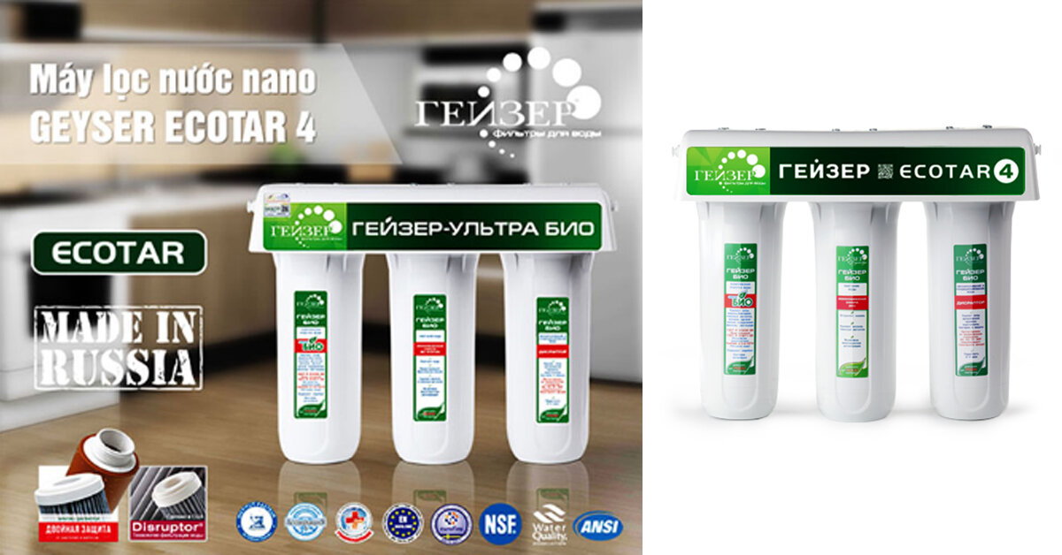 Máy lọc nước nano Geyser Ecotar 4 có tốt không ? Giá bao nhiêu ?
