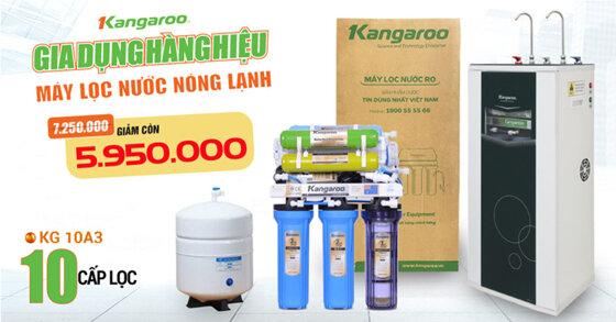 Máy lọc nước nóng lạnh RO Kangaroo mở bán khuyến mãi