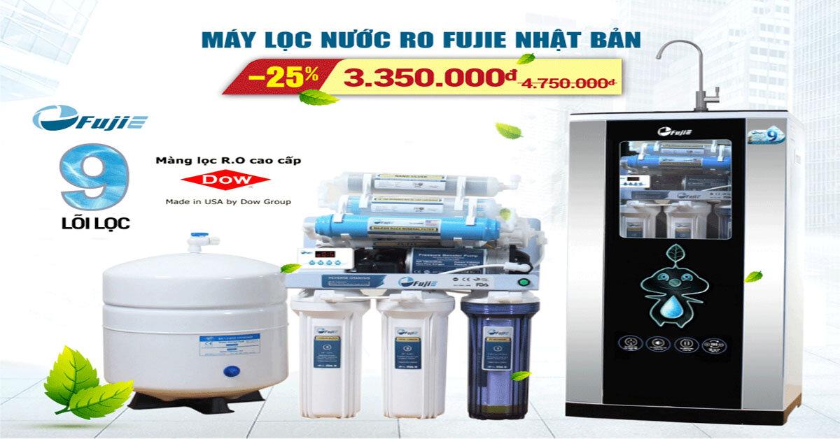 Máy lọc nước RO FujiE đến từ Nhật Bản mở bán khuyến mãi lần 2