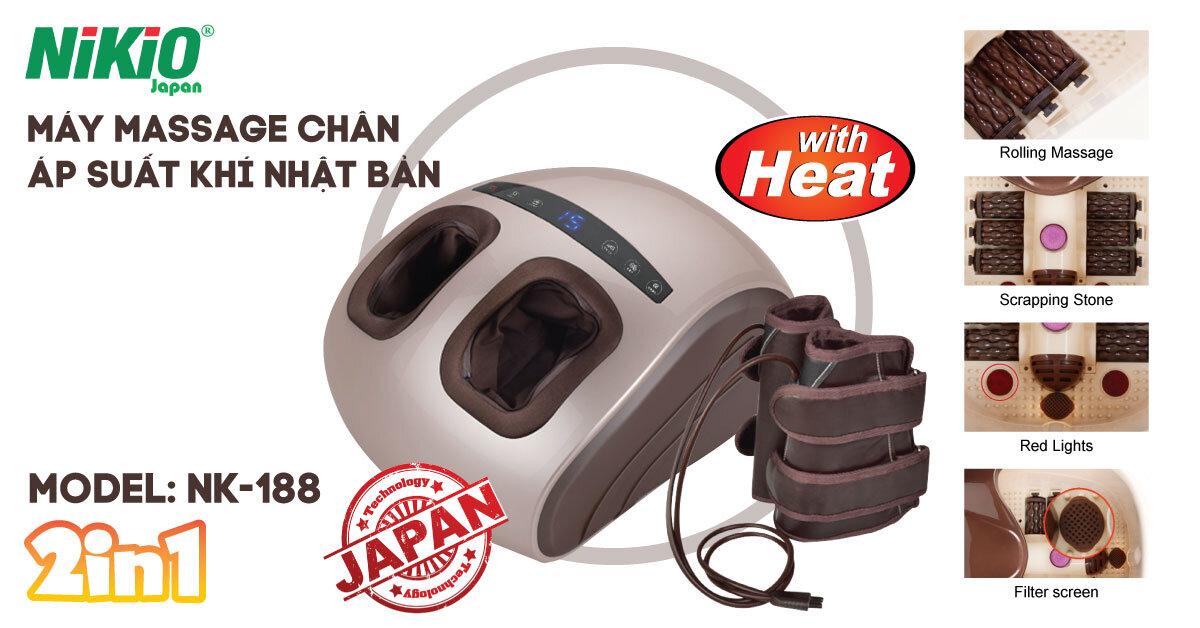 Máy massage chân áp suất khí Nhật Bản Nikio NK-188 giải pháp cho đôi chân khỏe đẹp
