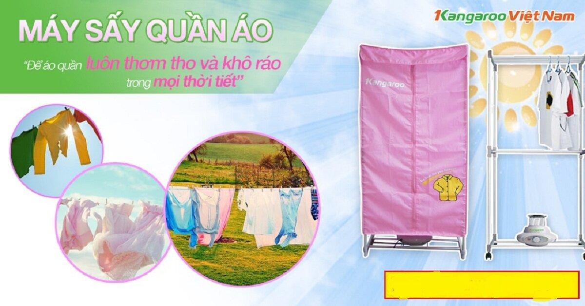 Máy sấy quần áo Kangaroo KG307 – sự lựa chọn đa năng cho người dùng
