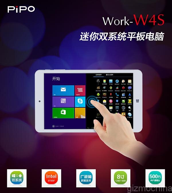 Máy tính bảng Pipo W4S chạy song song 2 hệ điều hành với giá chỉ 2.4 triệu đồng
