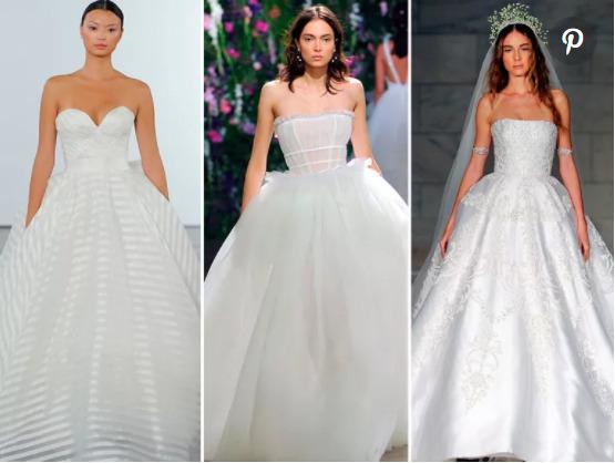 Váy cưới cúp ngực công chúa