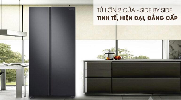 Tủ lạnh Samsung Side by Side 647 lít RS62R5001B4/SV màu đen - Giá tham khảo khoảng 20 triệu vnđ