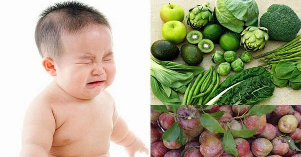 Mẹ cho con bú nên ăn gì khi bé sơ sinh bị táo bón?