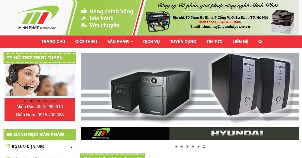 Minh Phát – Nhà phân phối độc quyền máy hàn Hdweld, UPS Hyundai, Máy phát điện Hyundai