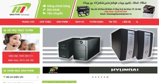Minh Phát - Nhà phân phối độc quyền máy hàn Hdweld, UPS Hyundai, Máy phát điện Hyundai
