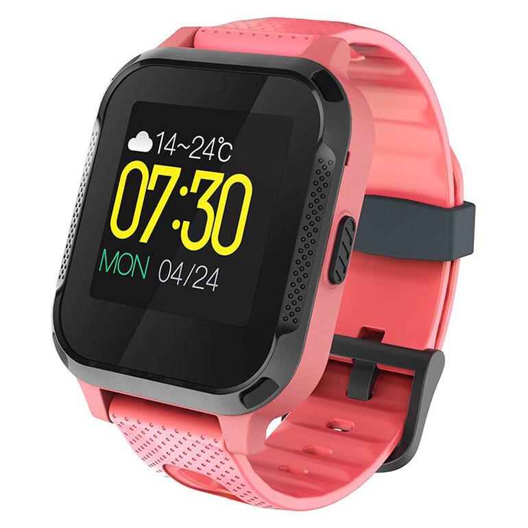 Đồng hồ màu đỏ cam với kiểu dáng hiện đại sẽ là món đồ thời trang cá tính cho bé