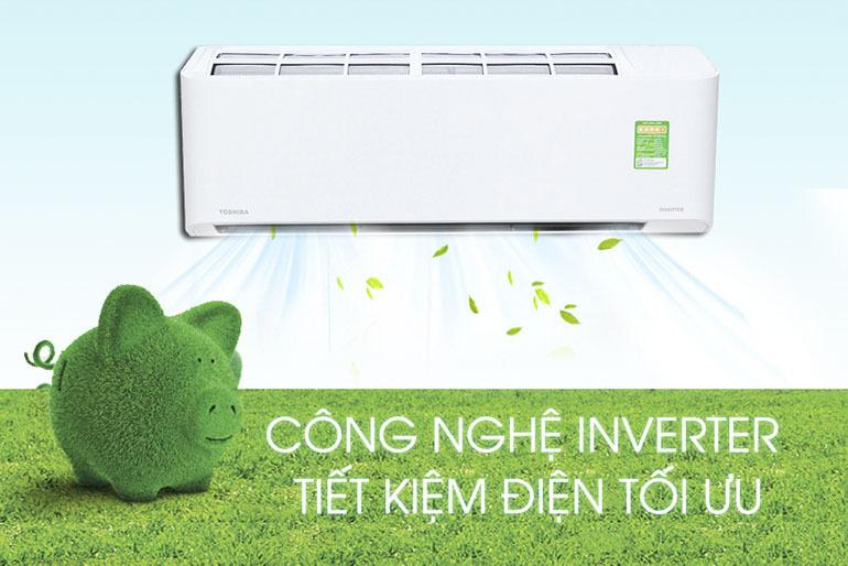 Điều hòa - Máy lạnh Toshiba RAS-H10KKCVG-V 1 chiều Inverter tiết kiệm tối đa điện năng tiêu thụ