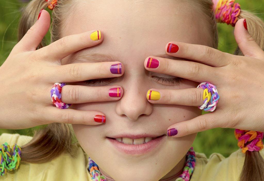 lưu ý khi sơn móng tay trẻ em