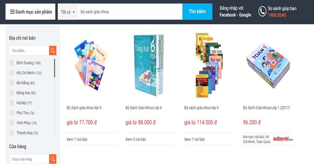 Mua bán sách giáo khoa online – giá rẻ hơn và tiện lợi hơn