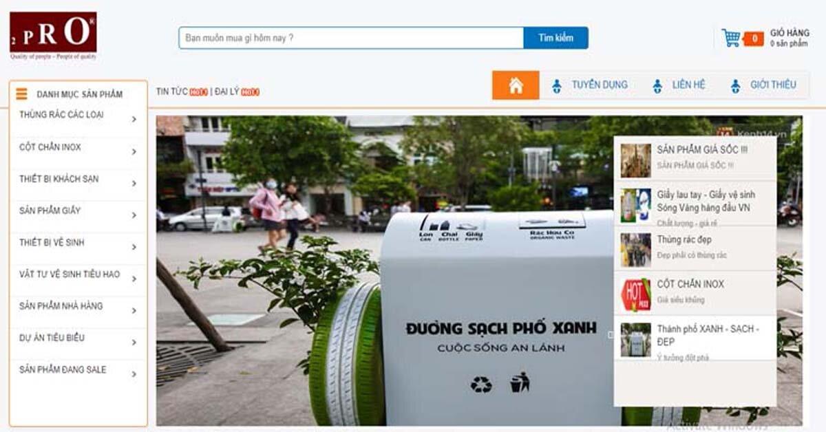 Mua thùng rác ở đâu giá rẻ nhất tại Hà Nội