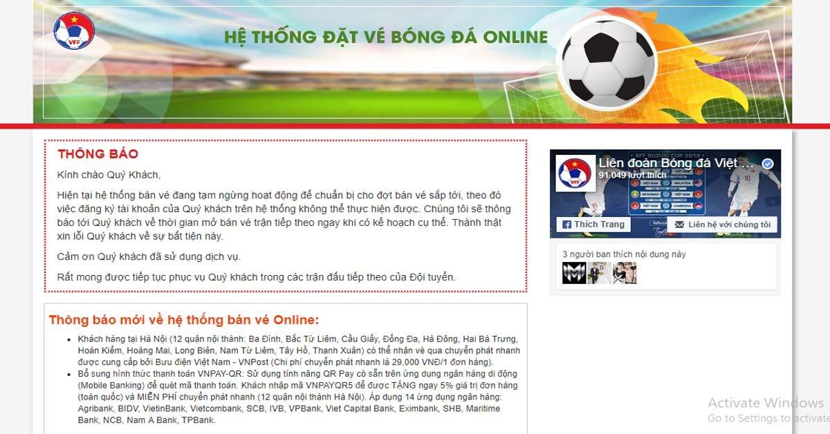 Mua vé xem bóng đá online trận chung kết AFF Cup 2018 ở đâu?