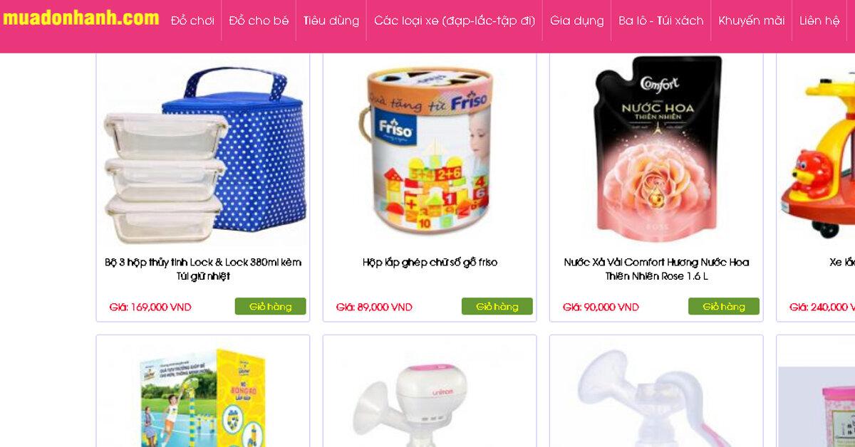 Muadonhanh.com – Chuyên cung cấp sản phẩm trẻ em, đồ chơi, đồ tiêu dùng, nhu yếu phẩm cần thiết cho mọi gia đình