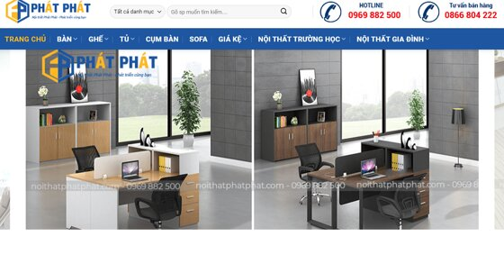 Muốn mua nội thất văn phòng giá rẻ, không thể bỏ qua nội thất Phát Phát