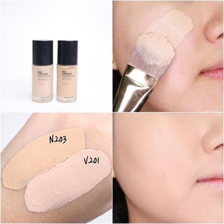 Kem nền chống nắng The Face Shop Ink Lasting Foundation Slim Fit SPF 30 PA++