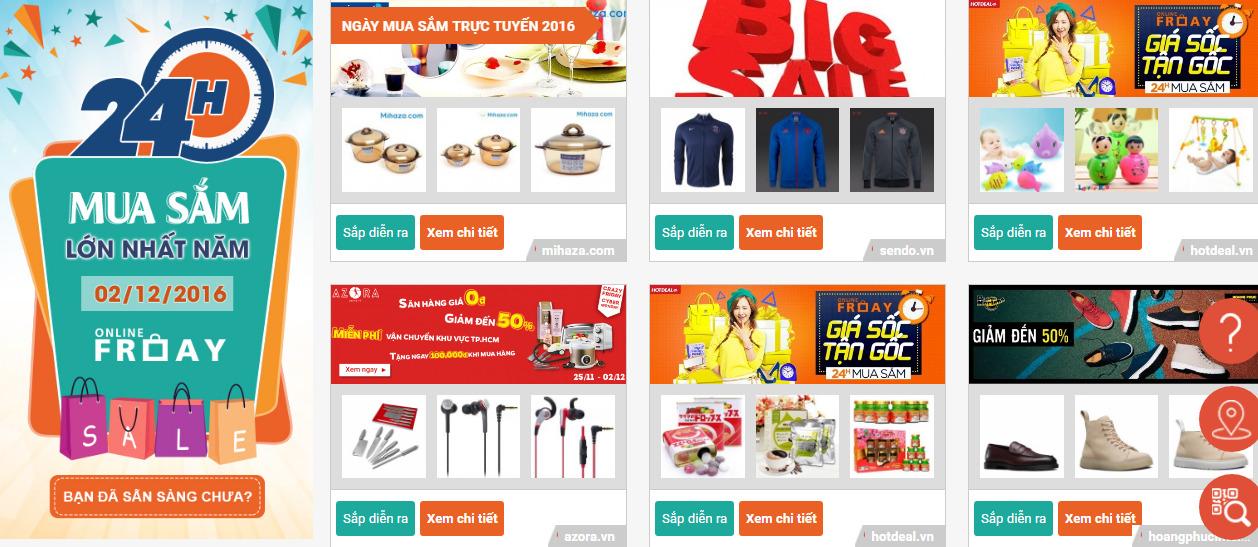 mặt hàng thời trang mỹ phẩm giảm giá Online Friday 2016
