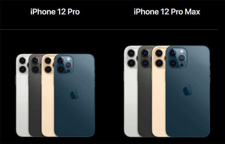 màu sắc trên iphone 12 pro
