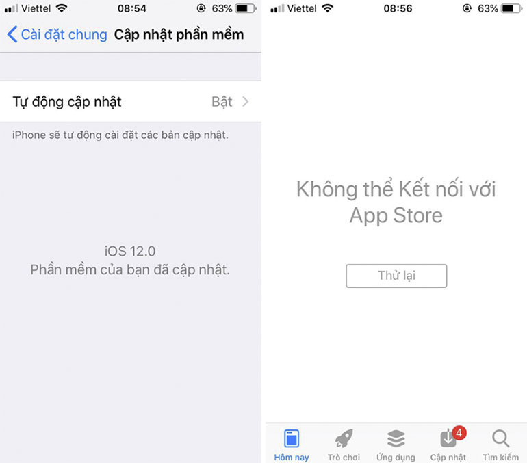 Một số lỗi cơ bản khi bạn nâng cấp phần mềm iOS 12 Beta cho dế yêu