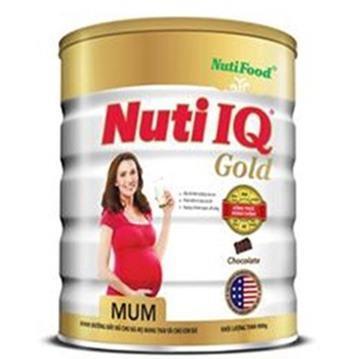 Sữa bột Nuti IQ Mum Gold (cho bà mẹ mang thai) hương Chocolate - Hộp 400g (Mã SP: 041634)