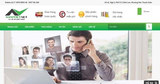 NamVietNet - chuyên cung cấp thiết bị, dịch vụ về lĩnh vực thông tin, viễn thông