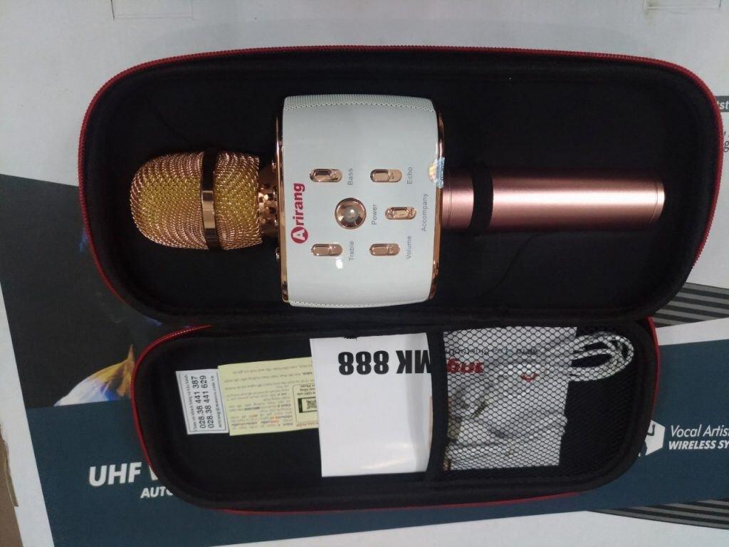 Micro Kèm Loa Bluetooth Arirang MK-88 với thiết kế hiện đại