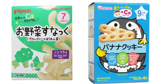 Nên chọn bánh ăn dặm Wakodo hay bánh ăn dặm Pigeon cho bé?