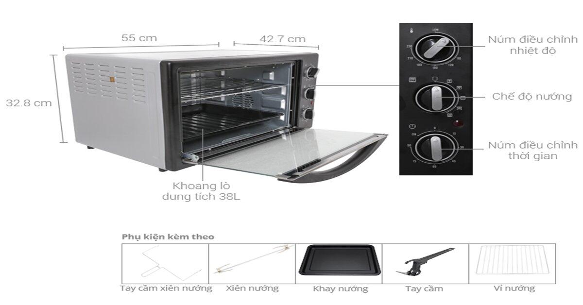 Nên chọn lò nướng Electrolux 38l EOT38MXC hay lò nướng Electrolux EOT38MBB ?