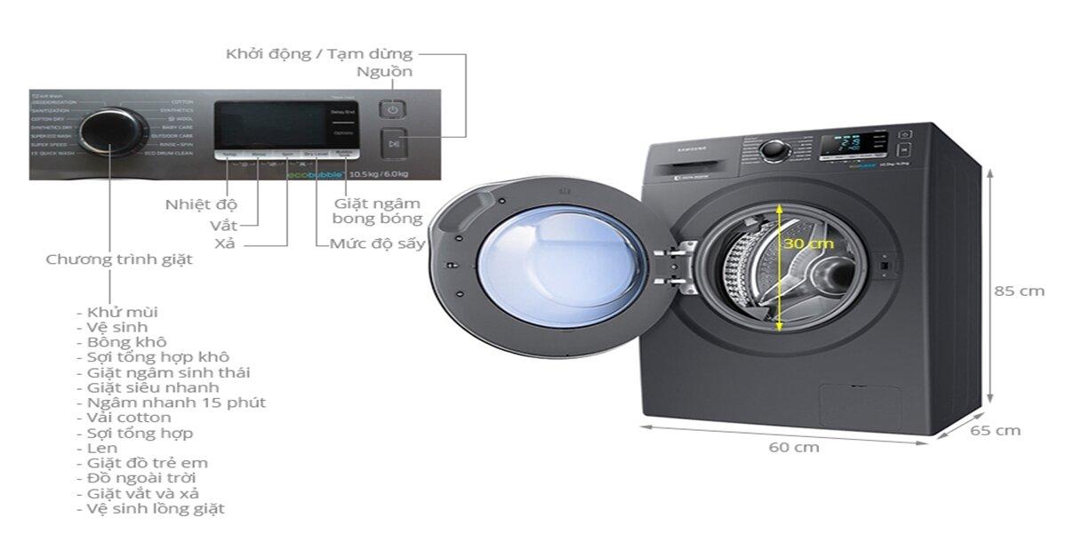 Nên chọn máy giặt Samsung 10kg lồng ngang loại nào tốt ?