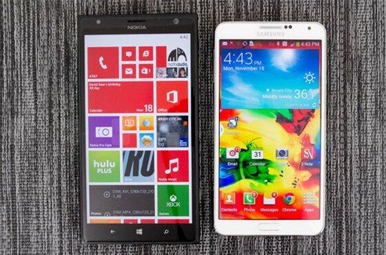 Nên chọn mua Lumia 1520 hay Galaxy Note 3?