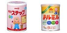 Nên chọn sữa bột Meiji hay Morinaga cho bé?