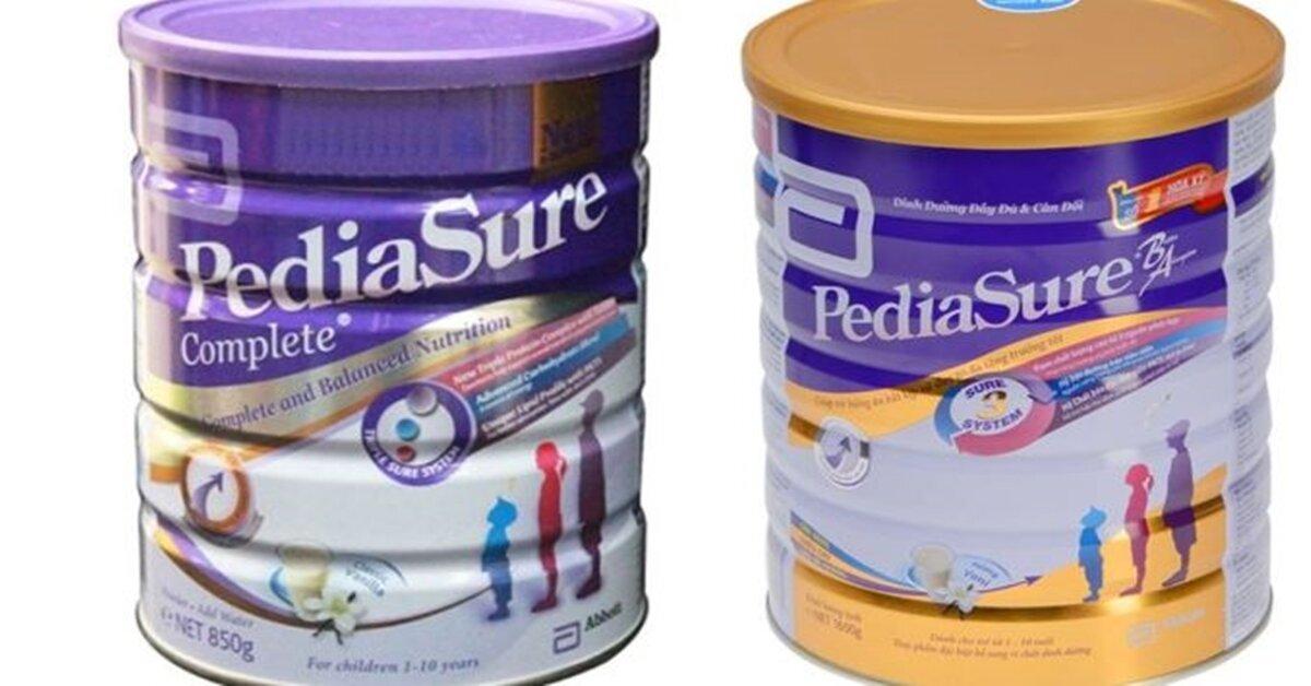 Nên chọn sữa bột Pediasure nắp vàng ( Úc ) hay nắp tím ( Singapore) ?