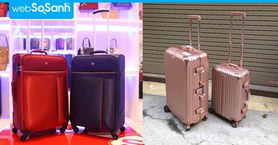 Nên chọn vali kéo vải hay vali kéo nhựa cứng ?