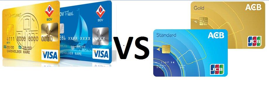 Nên làm thẻ tín dụng ngân hàng ACB hay BIDV