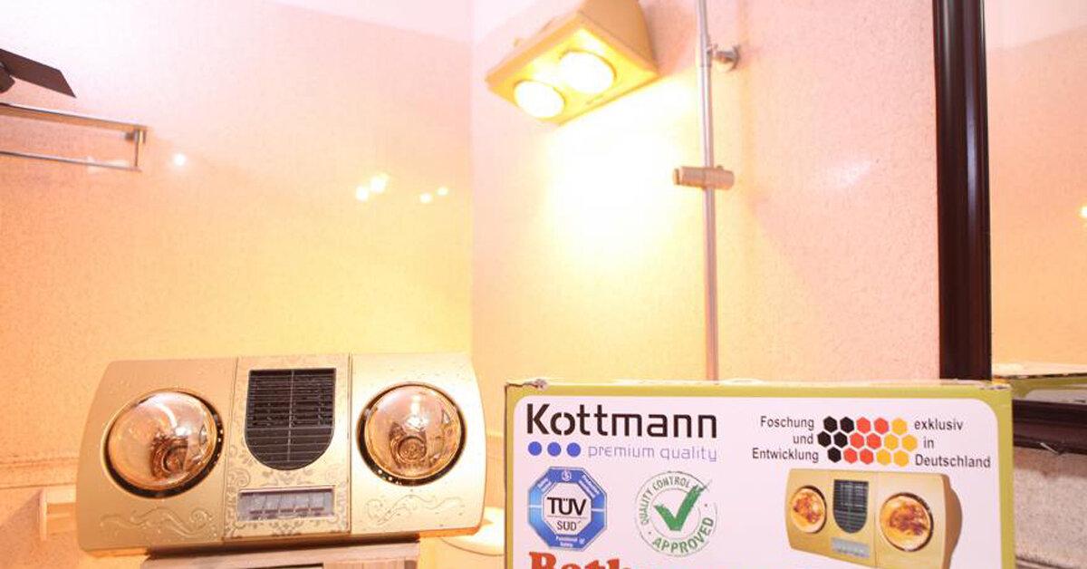 Nên mua đèn sưởi nhà tắm 2 bóng Kottmann hay Heizen ?