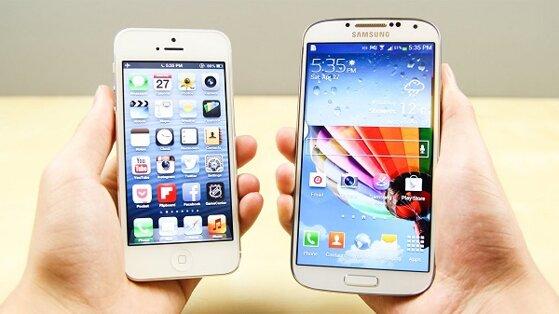 Nên mua điện thoại iPhone 5 hay Samsung Galaxy S4?