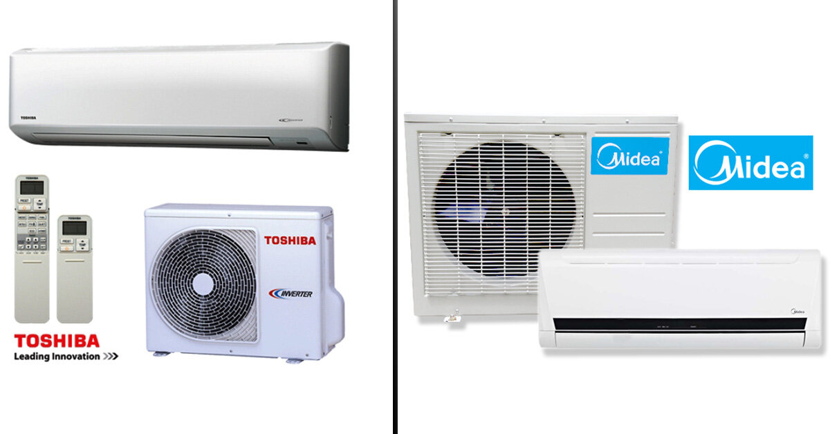 Nên mua điều hòa Toshiba hay điều hòa giá rẻ Midea ?