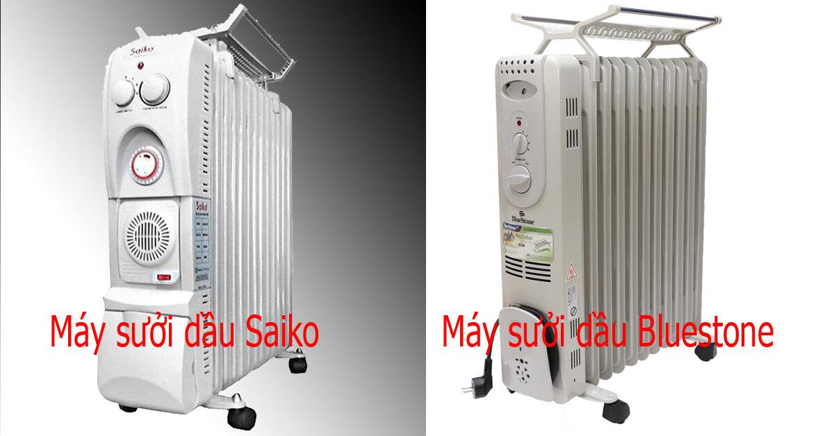 Nên mua máy sưởi dầu Bluestone hay Saiko ?