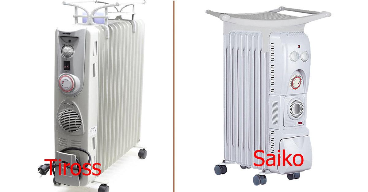 Nên mua máy sưởi dầu Tiross hay Saiko ?