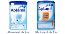 Nên mua sữa bột Aptamil của Anh hay của Đức ?