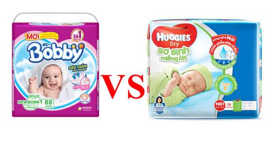 Nên mua tã giấy Newborn Bobby hay Huggies thì tốt ?