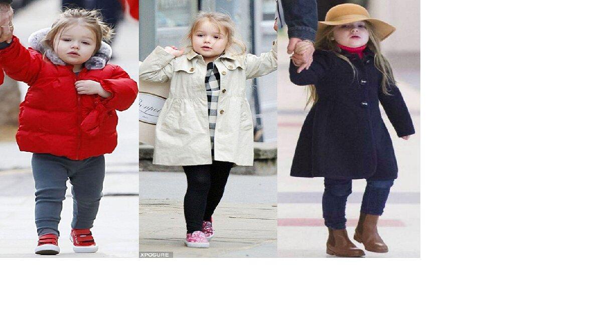 """Ngắm bộ sưu tập với áo khoác đẹp """"ngất ngây"""" của con gái Beckham"""