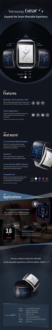 Ngắm nghía smartwatch Gear S thông qua infographic
