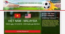 Ngộp thở mua vé online bóng đá AFF 2018 đợt 1 lúc 10h00 10/12/2018