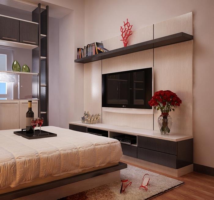kệ tivi gỗ phòng ngủ đẹp